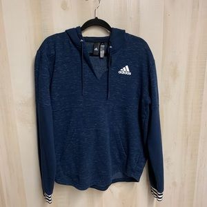 EUC Adidas V Neck Hoodie Size Large